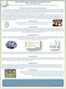 Help promote Chromosome Disorder Awareness Week.