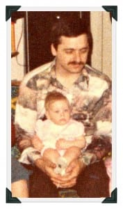 My dad holding me, 1980.