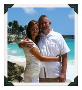 James and me, St. Maarten, 2011.