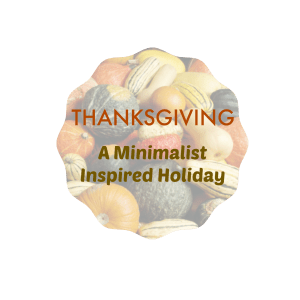 thanksgiving minimalist