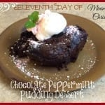 Eleventh Day of Minimalist Christmas-Moderation and Chocolate Peppermint Pudding