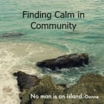 Finding Calm In Community