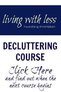Living with less decluttering course Rachel Jones