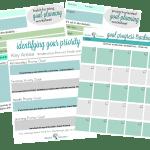 Goal Planning Worksheets Bundle