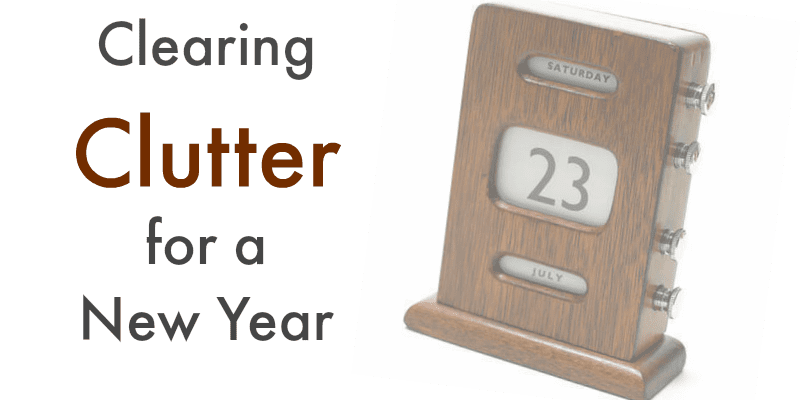 Clutter Clearing for the New Year