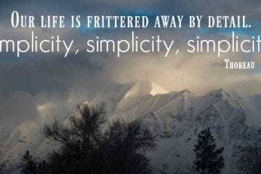 daily simplicity quote thoreau